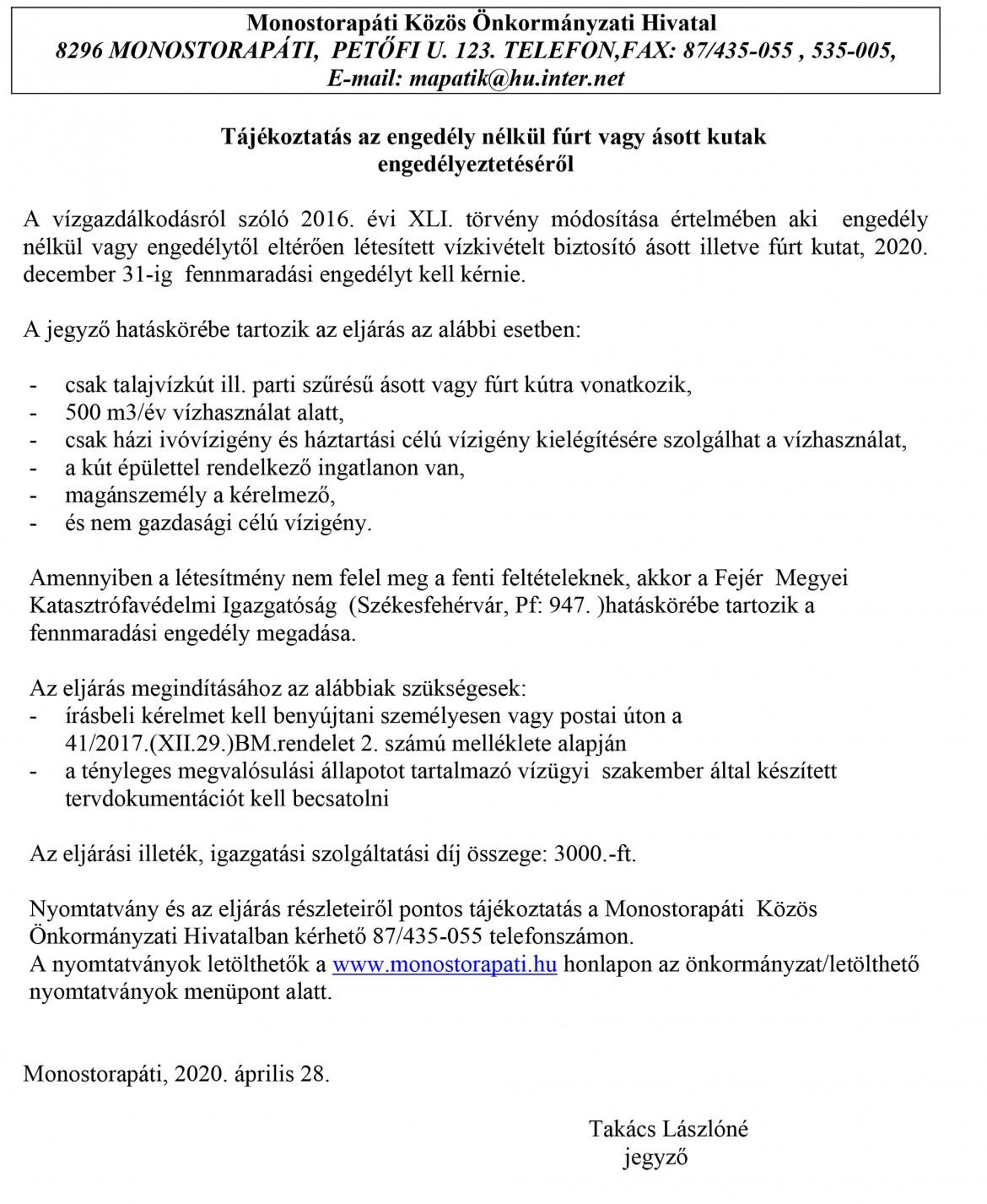 kut_fennmaradasi_engedely_hirdetmeny